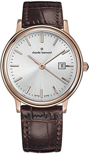 Claude Bernard Women's 54005 37RM AIR Classic Ladies Analog Display Swiss Quartz Rose Gold Watch