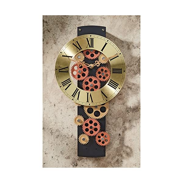 Design Toscano Cogs and Gears Mechanical Wall Clock 5