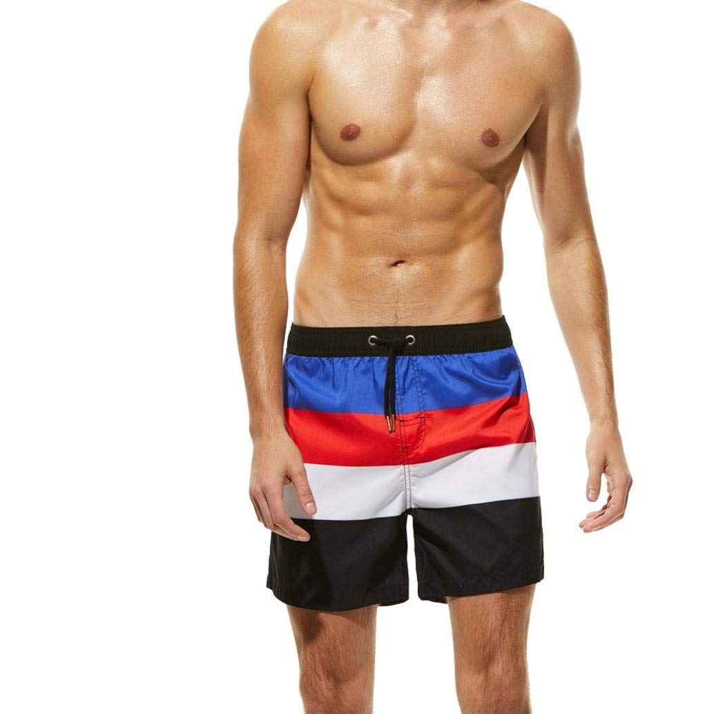 Simayixx Men's Pant, Men's Swimwear Running Surfing Sports Beach Shorts Trunks Board Pants (XL, Red)