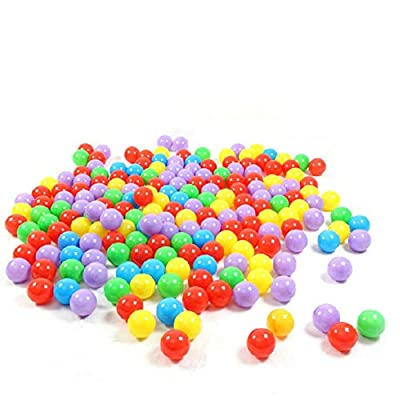 dissylove 200pcs 5.5cm Fun Soft Plastic Ocean Ball - Swim Pit Toys Baby Kids Toys Mini Play Balls Colorful Ball Mix Color (5.5CM): Home & Kitchen