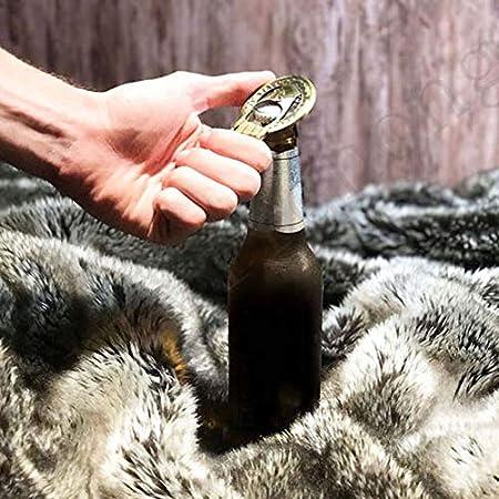 shenlanyu Sacacorchos 2 Piezas Abridor De Cerveza Caliente Mano The King Bottle Opener Regalo De Fiesta De Boda De Cumpleaños Al por Mayor