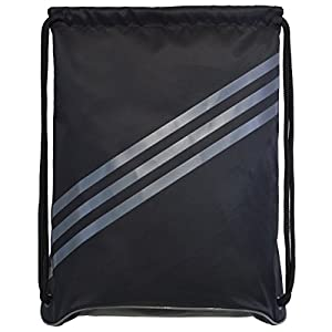 adidas Burst Sackpack, Black/Onix, 18 x 14.25-Inch