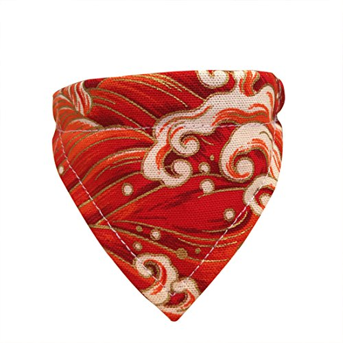Bib Handmade Silk - Handmade Modern Personalized Japanese Style Dog Saliva Towel Adjustable Pet Triangle Bibs Scarf Collar