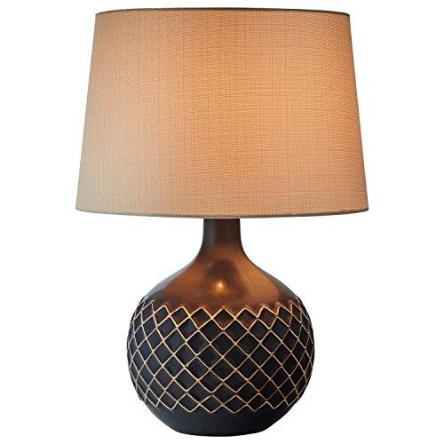 Stone & Beam Modern Criss-Cross Lamp with Bulb, 21.5