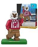 NCAA Wisconsin Badgers Bucky Badger Mascot Gen 2 Mini Figure, Small, Black