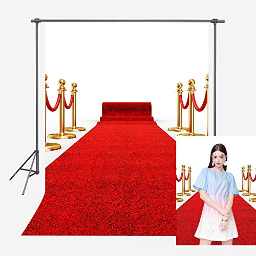 FUERMOR Photo Background 5X7ft Red Carpet Photography Backdrop