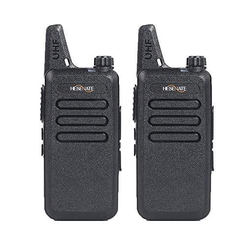 HESENATE HT-U222 Long Range 3-Watt Uhf: 400-470Mhz/70cm 16-Channel Portable  FRS/GMRS Two-Way Radio Vox Rechargeable 1500mAh Li-Ion Battery Walkie