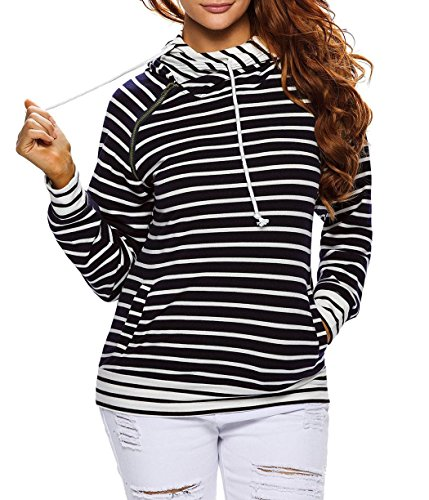 Charmeuse Chiffon Skirt (Anmengte Women Fall Casual Double Hooded Long Sleeves Sweatshirt Top Sweater (L,)