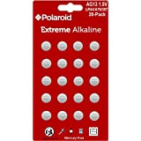 Polaroid Extreme GPA76 LR44 AG13 1.5V Button Cell Alkaline Batteries Hexbug Compatible (20-Pack)