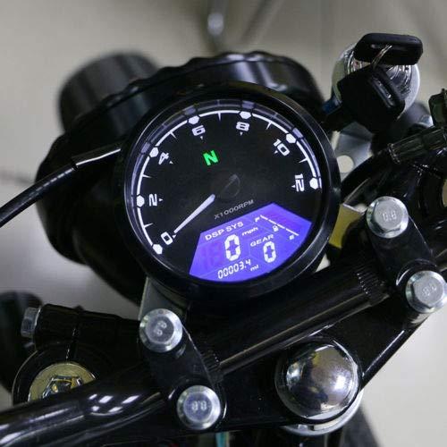 XuBa motociclo universale segnale LCD tachimetro contachilometri contagiri calibro per scooter