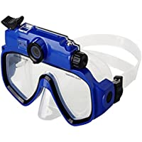 20m Snorkeling Scuba 720P Digital Diving Camera Mask - Blue