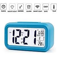 OurLeeme Reloj de Alarma Digital, batería Batería