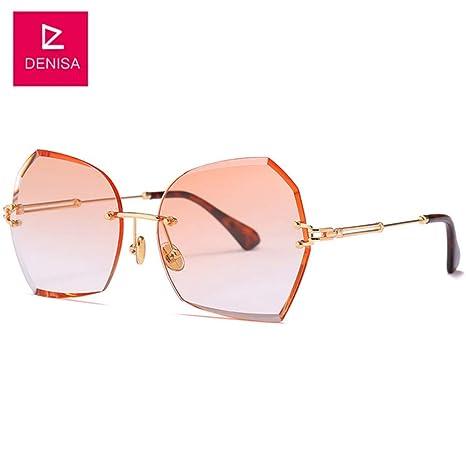 Yangjing-hl Nuevas Gafas de Sol sin Montura de Mariposa para ...