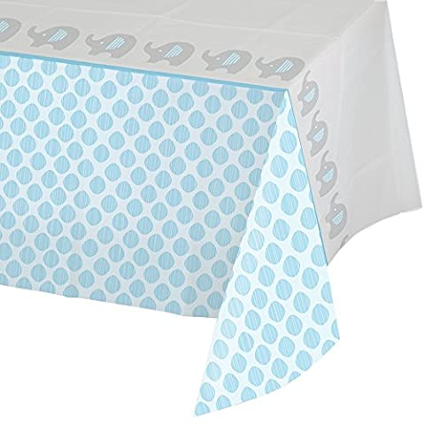 Creative Converting 316939 All Over Print Plastic Tablecover, 54 x 102