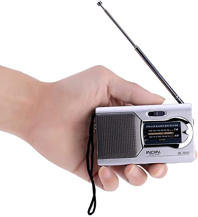 Universal Slim AM/FM Mini Radio Portátil Slim Portátil Estéreo Altavoz Reproductor de Música con Antena Telescópica Mundial Universal FM 88-108 AM ...