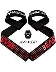 Beast Gear Weight Lifting Straps - Professional Standard Padded Straps With Advanced Gel Flex Grips