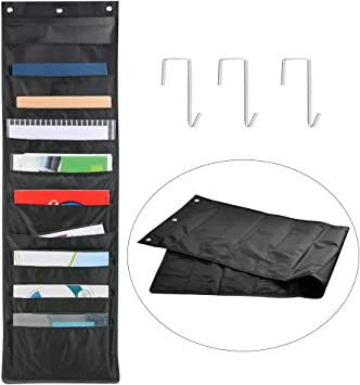 Hanging File Folder Organizer Over The Door//Wall Mounted 10 Storage Pocket Chart