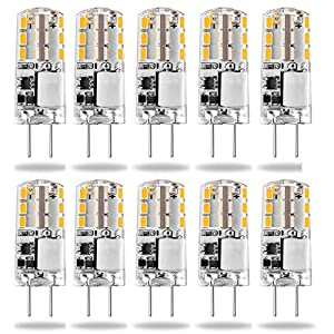 G4 LED Light Bulbs,24LEDs 1.5W/ 20W Halogen G4 Capsule Bulbs Replacement Bi-Pin Base JC Type Energy Saving Non-dimmable…