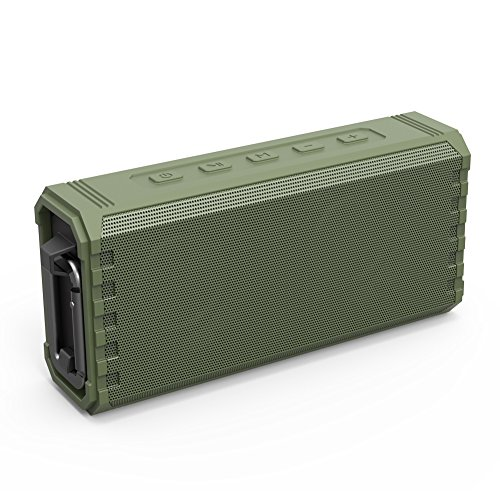 Bluetooth Speaker Portable Waterproof Outdoor IPX7 20W Hcman Wireless Speakers Enhanced Bass Sound, 24-Hour Playtime, Built in Mic, TF Card, Auto Off, Durable Design for Party, Travel (Green) ()