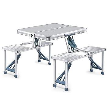 Mesas de Acampada Mesa Plegable portátil Ajustable en Altura ...