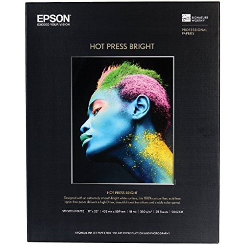 EPSS042331 - Epson Hot Press Bright Fine Art - Bright Fine Paper Art White