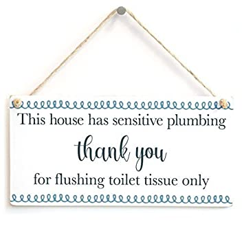 décoratifs Signes avec proverbes cette maison A sensibles plomberie ...