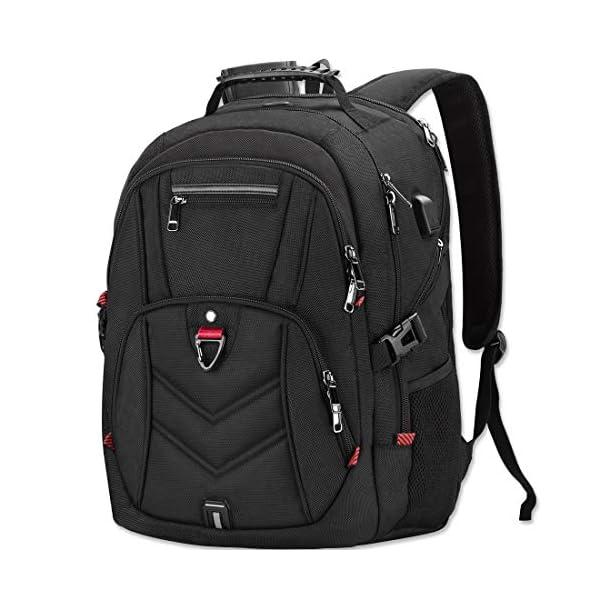 Zaino Porta PC Zaini Lavoro Uomo Notebook Laptop Borsa 17 17,3 Pollici Impermeabile con USB Zainetto da Viaggio Scuola… 1 spesavip