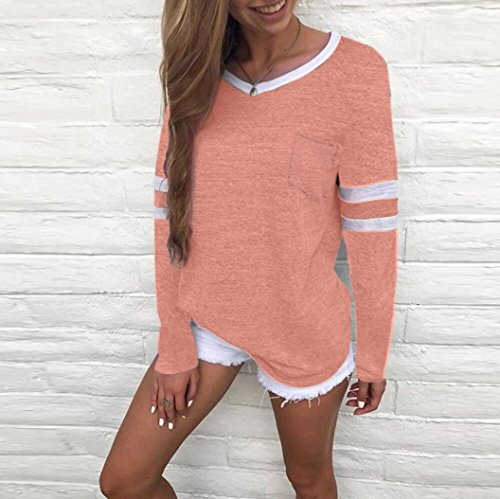 Tops Manches Longues T Impression Dames 4 Femmes Chat MORCHAN Shirt Blouse Rose nTA8xq