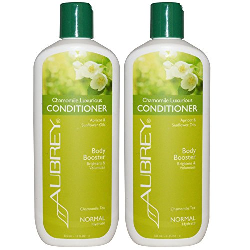 Aubrey Organics Chamomile Luxurious Conditioner With Aloe Vera, Lavender, Apricot, Vitamin E, Carrot and Hops, All Natural and Organic, Sulfate Free, 11 fl. oz. (Pack of 2) Aubrey Organics Hair Conditioner
