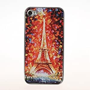 TOPMM Eiffel Tower Pattern Plating Pasting Skin Case for iPhone 4/4S