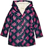Hatley Girl's Splash Jacket-Sherpa Lined Raincoat