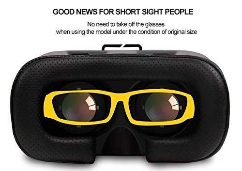 Akally 3D VR Headset Glasses Virtual Reality Mobile Phone 3D Movies for iPhone 6s//6 Plus//6//5S//5C//5 Samsung Galaxy S5//S6//Note4//Note5 /& Other 4.7-6.0 Cellphones