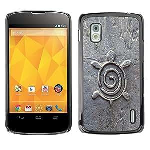 For LG Google NEXUS 4 / Mako / E960 Case , Architecture Design Figurine Stone - Diseño Patrón Teléfono Caso Cubierta Case Bumper Duro Protección Case Cover Funda
