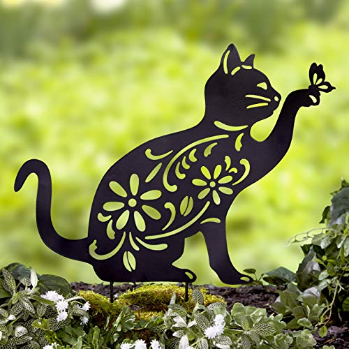 Ltd Commodities LLC The Lakeside Collection Animal Silhouette Stake - Cat (Garden Cat Statues)