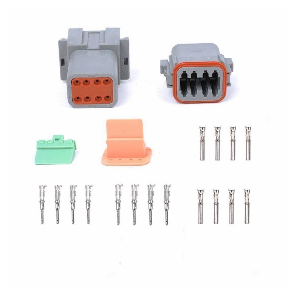 MUYI DT04 DT06 防水コネクター 2/3/4/6/8ピン 電線プラグターミナル 3 Pin B01G9XY1I8 3 Pin 5  3 Pin