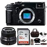 Fujifilm X-Pro2 Camera Body + X-Series 23mm F2 R WR Lens (Black) Bundle