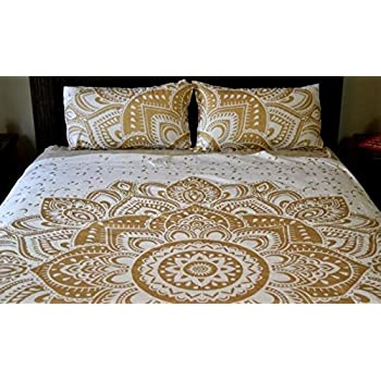 image bedspread in orange the indian comforter arrangement and maroon a of