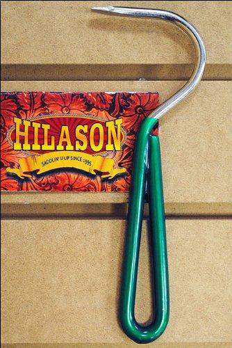 Dark Green Hilason Horse Tack Zinc Plated Hoof Pick With Vinyl Coated Handle