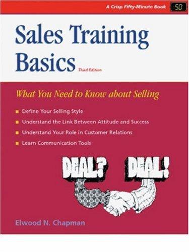 Sales Training Basics: 3rd (Third) edition