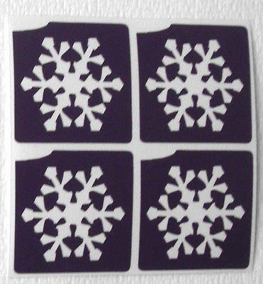 TEMPORARY GLITTER TATTOO 20 x mini stencil frozen snowflakes glitter tattoo airbrush facepaint