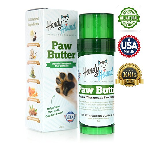 Handy Almond Shield - Handy Hound Paw Butter Dog Paw Balm Made from The Finest All-Natural Waxes, Oils, and Butters to Heal and Protect Dry, Rough, Chapped, Cracked Paws & Snout. The Wax Protects from The Snow and Ice.