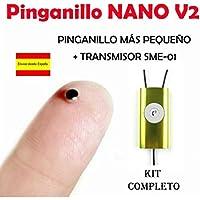 Pinganillo Nano V2 KIT COMPLETO (Negro/Amarillo)
