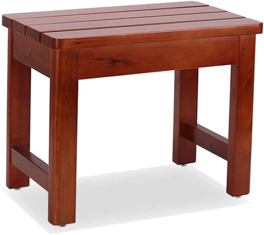 Benches Shower Bathroom Stool Old Man Bath Stool Solid Wood Stool Children Pregnant Bathroom Stool Bathroom Chair (Color : Red, Size : 50x30x40cm) 51r8SsfBPTL