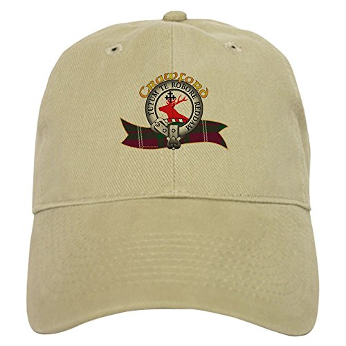 CafePress Crawford Clan Baseball Baseball Cap with Adjustable Closure, Unique Printed Baseball Hat Khaki ()