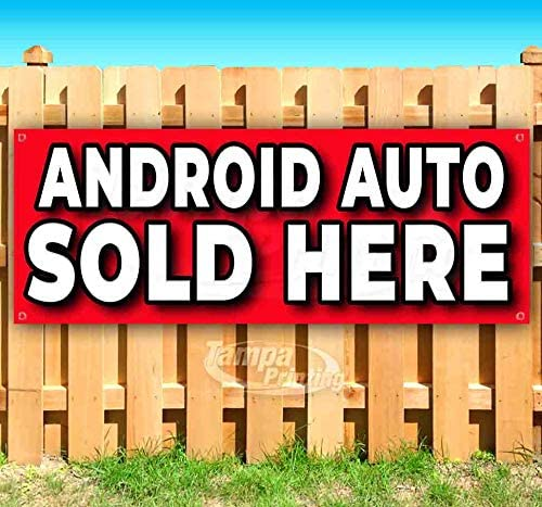 Advertising Many Sizes Available Flag, New Store Android AUTO Sold HERE 13 oz Heavy Duty Vinyl Banner Sign with Metal Grommets