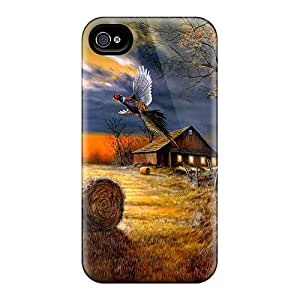 Ultra Slim Fit Hard kevor Case Cover Specially Made For Iphone 4/4s- Autumn Harvest