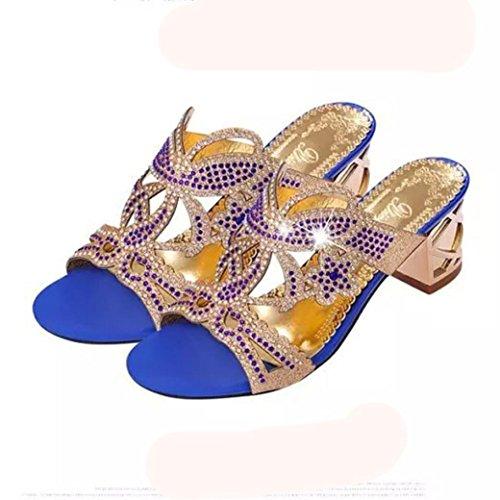 Sandales Jimma Creuse Lady Mode Femmes Pantoufles Strass f7bvYy6g