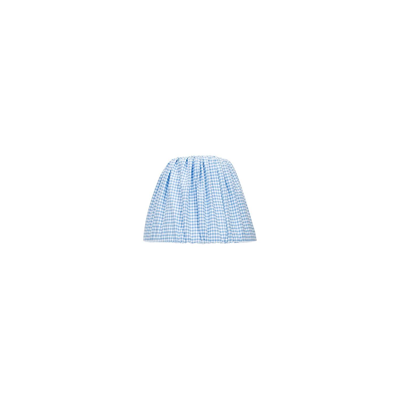 Glenna Jean Starlight Lamp Shade, Gingham/Blue/White, 9″ x 12″