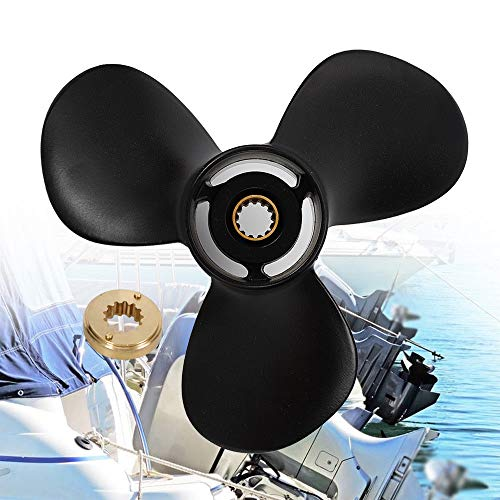 3 Blades Prop Propeller, Outboard Boat Propeller Aluminium Alloy Black for Mercury Mariner 25 30 40 50 60 70 HP Outboard Motor
