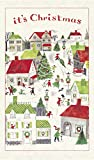 Cavallini Papers & Co., Inc. Christmas Village Tea Towel